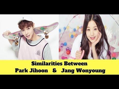 Similarities Between Park Jihoon & Jang Wonyoung 朴志训与张元英的相似之处