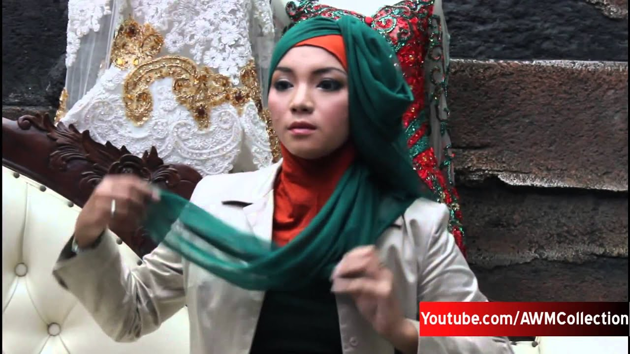 Cara Pakai Jilbab Pesta Kebaya Segi Empat Simple 2017 01 03