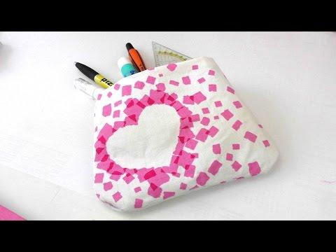 Tasche ohne Nähen mit Stoff und Ducktape selber machen – eigene Tasche basteln