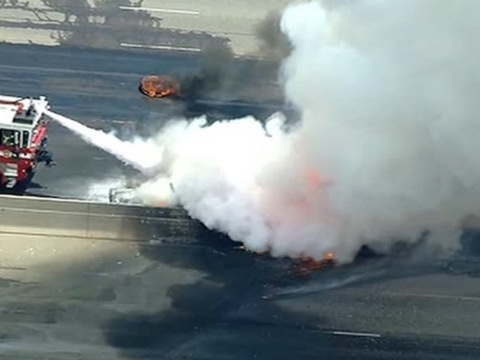 I-25 Truck Fire Snarls Traffic Near Denver