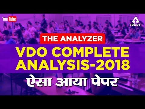 VDO Complete Analysis 2018   The Analyzer