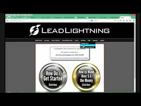 Lead Lightning Back Office - YouTube
