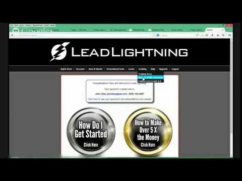 Lead Lightning Banner Lead Lightning Back Office