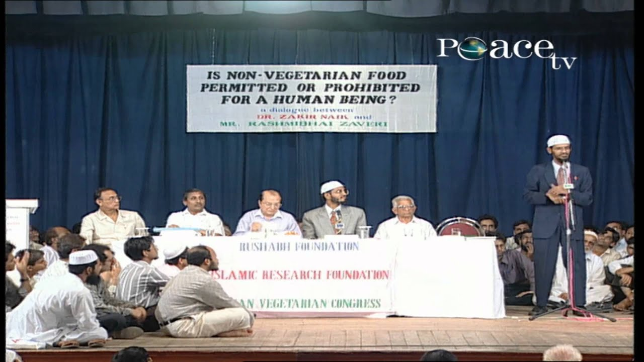 IS NON - VEGETARIAN FOOD PERMITTED OR PROHIBITED FOR A HUMAN - BEING? | LEC + Q & A | DR ZAKIR N