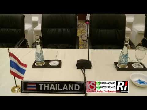 Rental Mic Conference oleh Asean Event Asean Meeting 5.6.7 December 2017