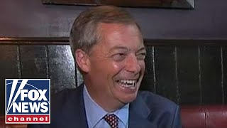 FOX News - Nigel Farage reacts to anti-Trump protests in London
