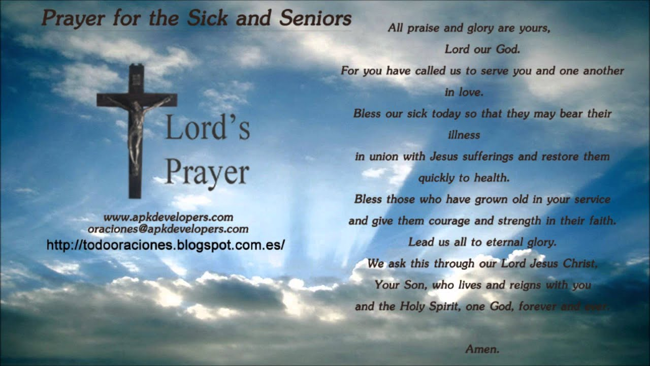 Prayer For The Sick And Seniors Youtube