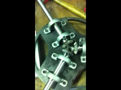 Pitch control with bevel gears for small scale wind turbine