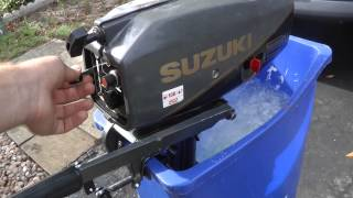 Video Suzuki 2hp 2 stroke tiller motor download MP3, 3GP, MP4, WEBM, AVI, FLV Agustus 2018