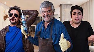 Tipos de personas arreglando la casa