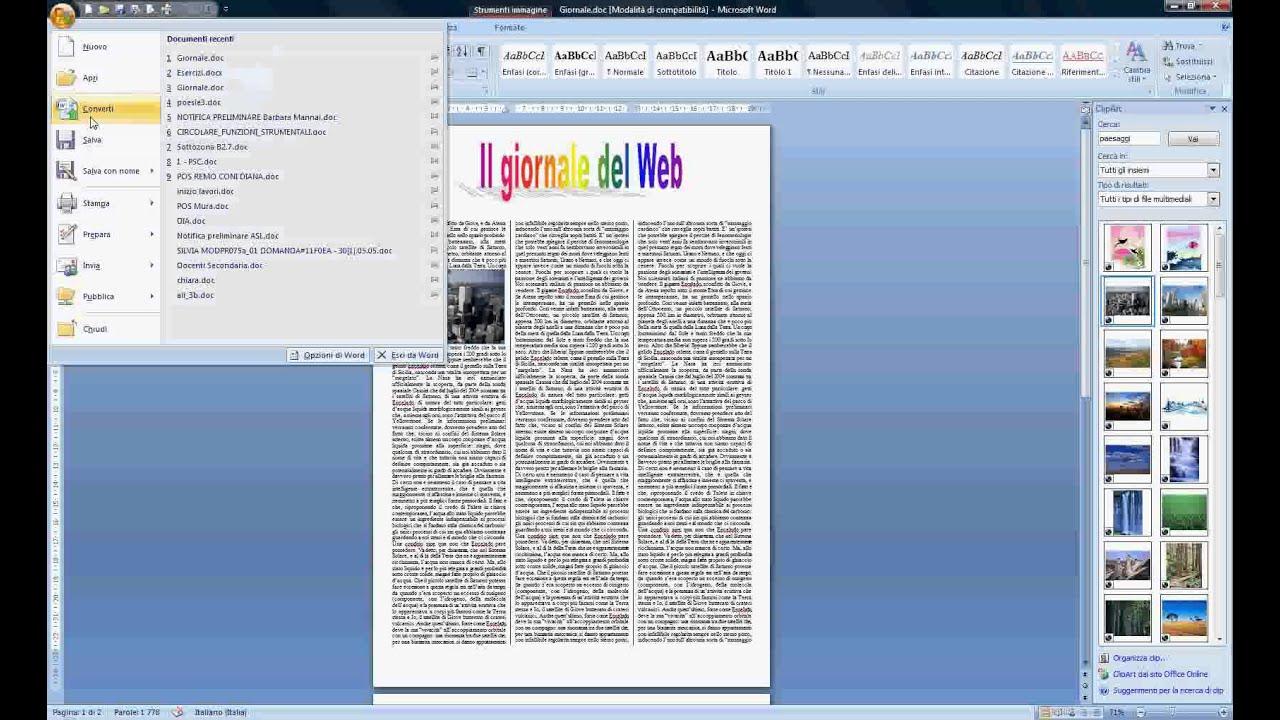 Esercitazione n 1 pagina di un giornale youtube for Ad giornale di arredamento