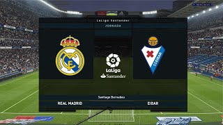 Real Madrid vs Eibar || La Liga 2020 || Match Day 28 Gameplay