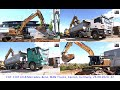 CATERPILLAR 330F LN & MERCEDES Tipper Trailer Trucks, Kernen, Germany, 26.08.2020. #2