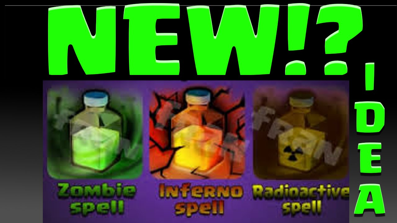 Clash of Clans NEW SPELLS! Zombie Spell? New Spell Ideas Poison ...
