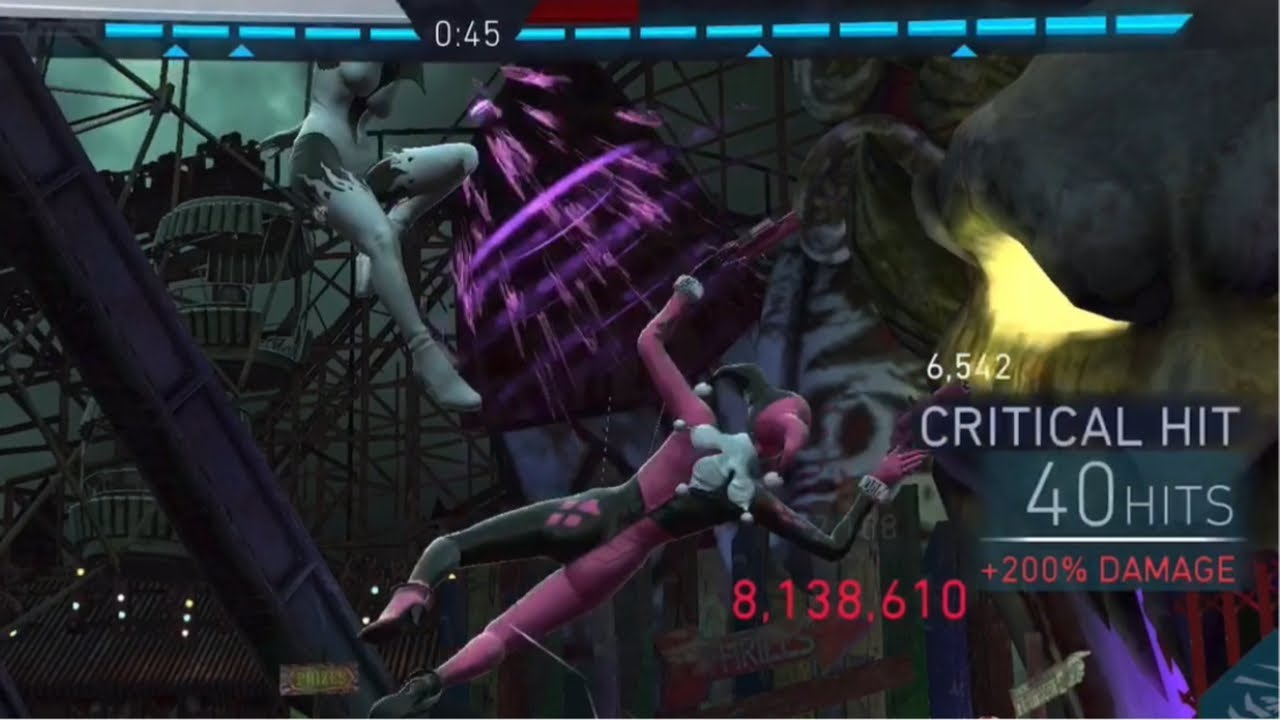 SB INSANE DAMAGE - Tier IV Heroic I Solo Raids 3 Pips - Injustice 2 Mobile- Dawn of Apokolips