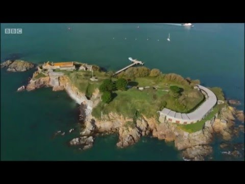 Drake's Island - BBC Secret Britain Series 3: Episode 3. Plymouth Devon. April 2016