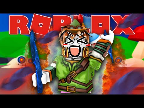ROBIN HOOD BARBAR!!! (Roblox Indonesia Blade Throwing Simulator #1)