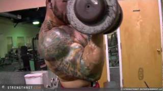 Joe Curls 70lb Dumbbells After Long Workout