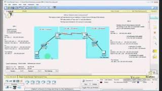 RIPv1 and RIPv2 using a VLSM addressing scheme (CCNA study)