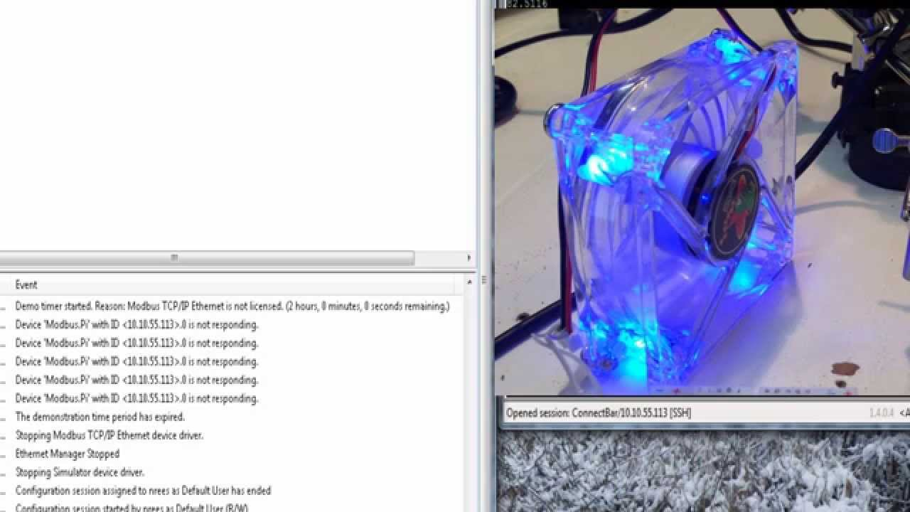 Raspberry Pi as Modbus TCP Slave - Controlling 12v Fan