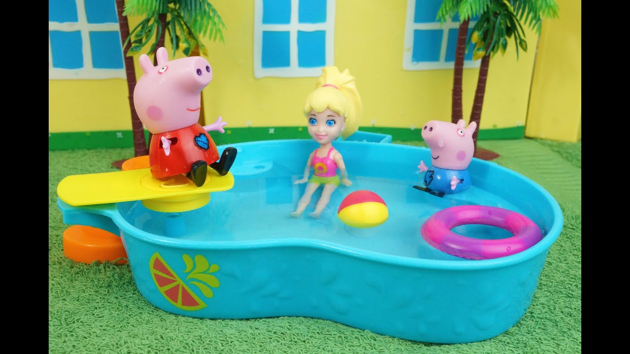 Piscina Peppa Pig Polly Vai Brincar Na Casa Do Pig George E Da Peppa Pig