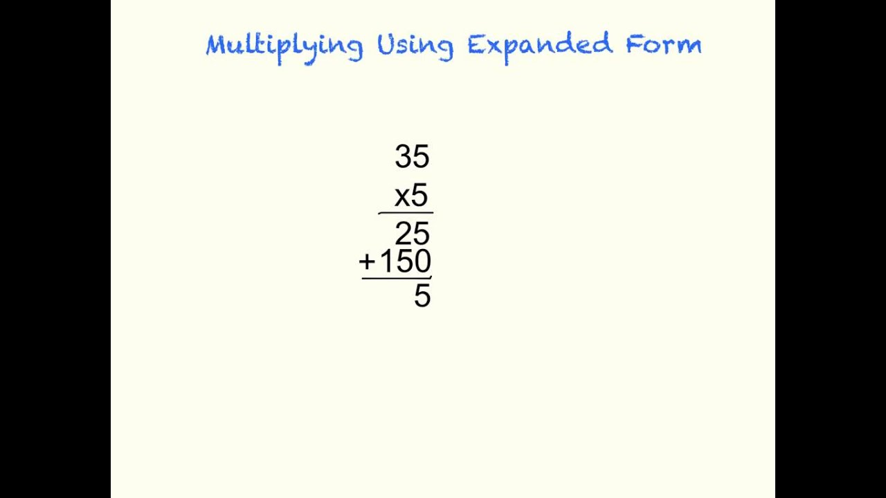 Multiplying Using Expanded Form