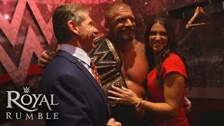 The McMahon family celebrates Triple H's historic victory: January 24, 2016