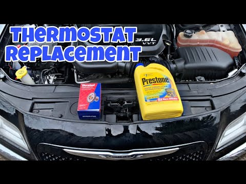 How to replace thermostat  2011-2019 Chrysler 300