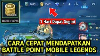 Cara Cepat Mendapatkan Battle Point Di Mobile Legends
