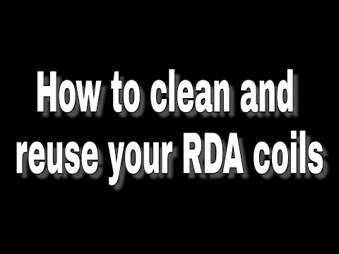 Tips and tricks: cleaning and reusing your RDA coils tutorial | cleaning and rewicking coils