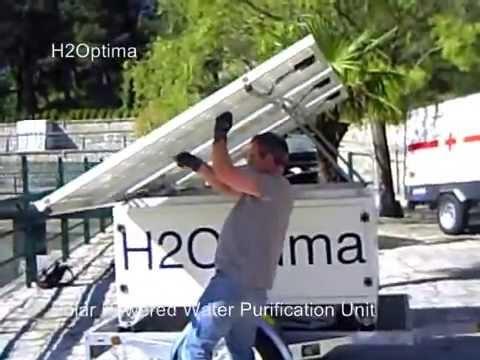 H2Optima Solar Water purification unit