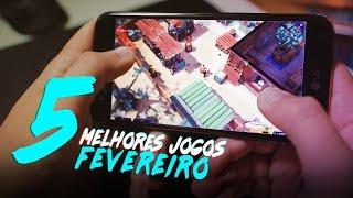 5 MELHORES JOGOS DE FEVEREIRO🎮📲   LG K10 NOVO