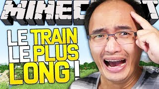 JE CONSTRUIS LE TRAIN LE PLUS LONG AU MONDE SUR MINECRAFT !