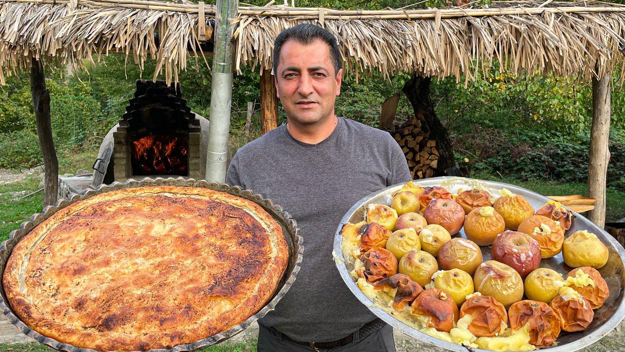 "Real Lezgian Dish ""Tskan""! Life in an ordinary Azerbaijani village! Relaxing Cooking"