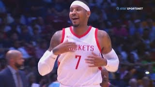 Carmelo Anthony Shocks Entire Rockets In Debut with James Harden and Chris Paul!