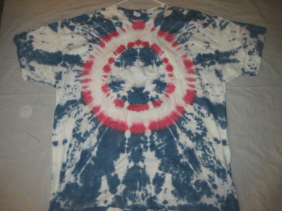 2b0635a0afae how to tye dye a capt america - YouTube