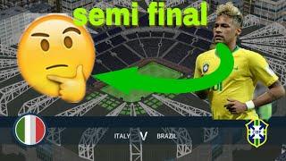Italy vs Brazil International Cup Semi Final | Dream League Soccer 2018