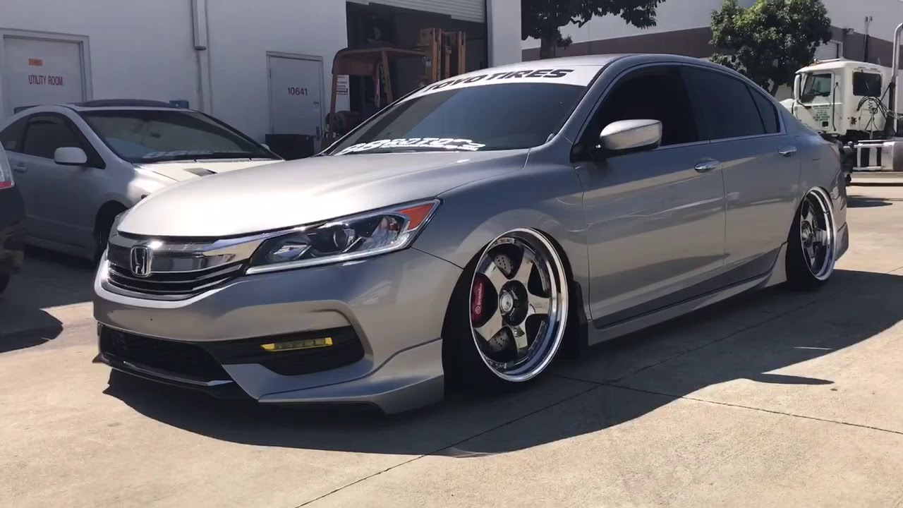 2017 2016 Honda Accord Sport Sedan On Airlift Air Suspension Ssr Sp1 Wheelore