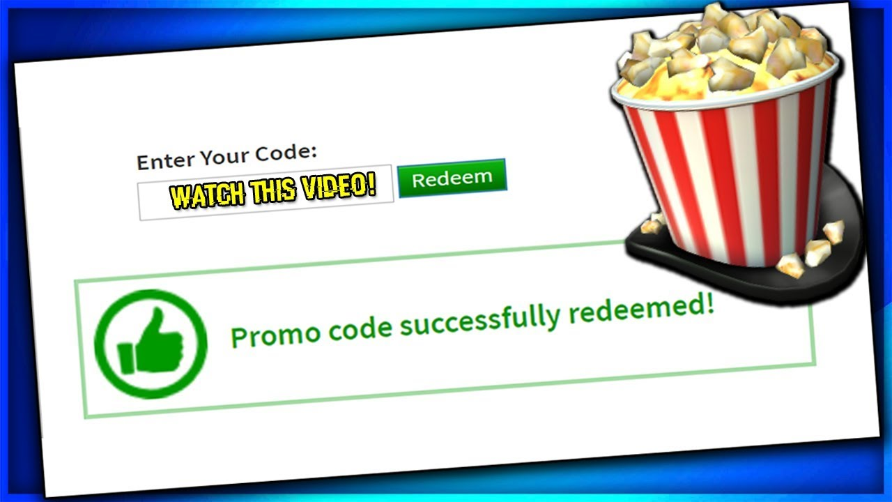 *MARCH* ALL WORKING PROMO CODES ON ROBLOX 2019| ROBLOX PROMO CODES BLOXY  POPCORN HAT CODE (WORKING)