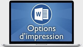 Tutoriel Word 2013 - Autres options d