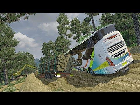 GARUDA MAS SR2 XDD OFF ROAD    Ets2 bus mod indonesia video download
