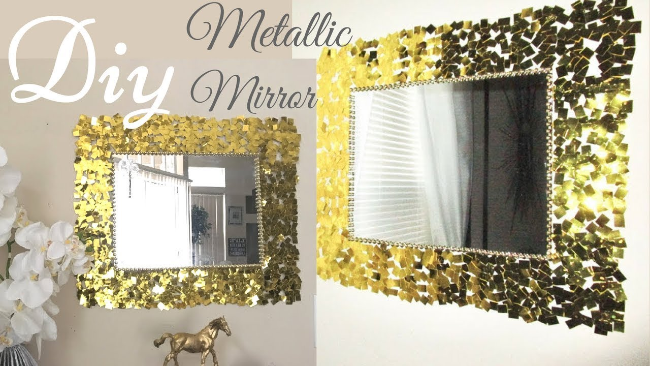 Diy Metallic Gold Wall Mirror Decor Easy Craft Idea For Creating An Awesome