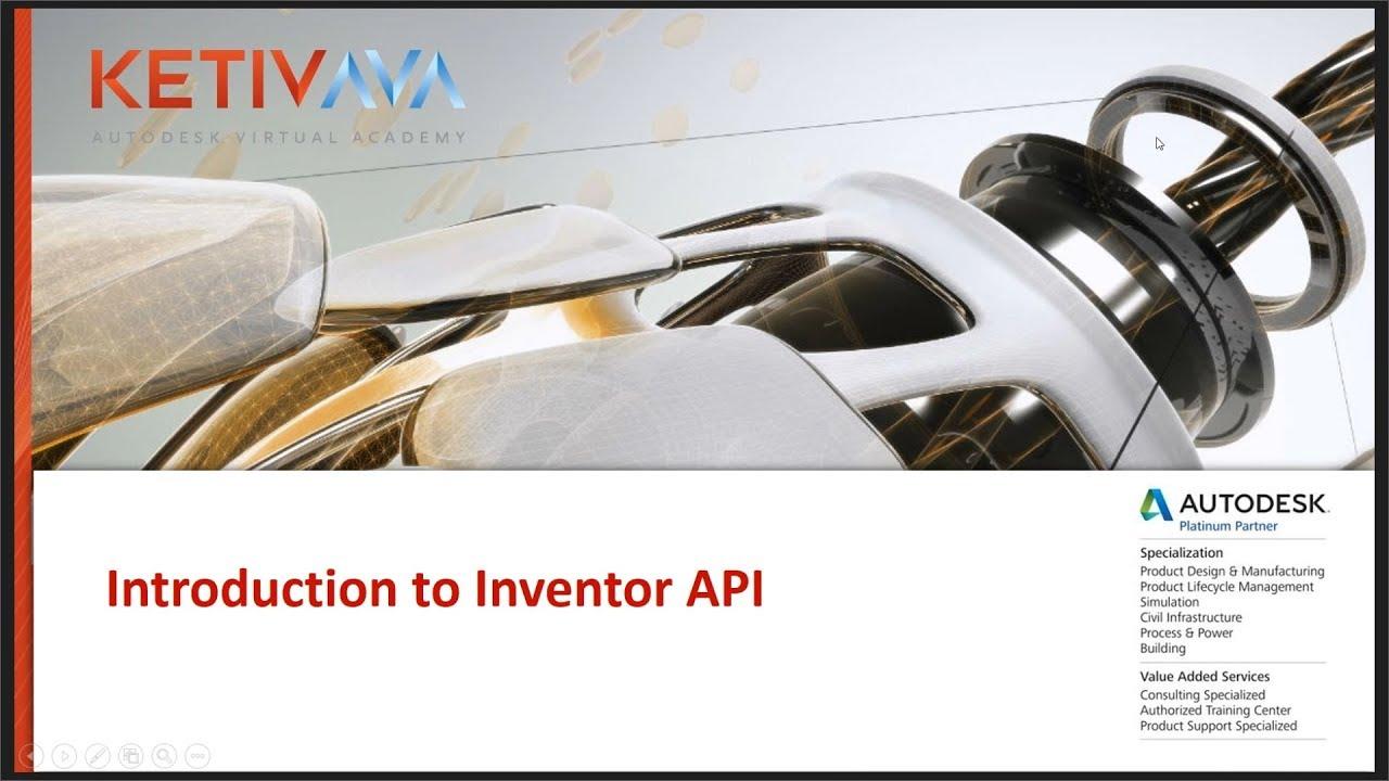 Introduction to Inventor API (iLogic) | Autodesk Virtual Academy