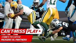 Rodgers Connects w/ Cobb While Falling & Cobb Cuts In for a TD! | Can