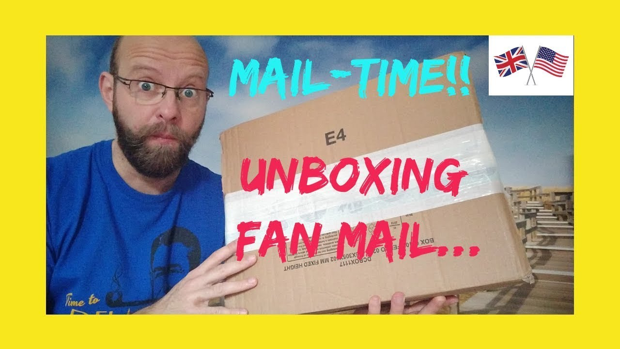 Mail time: unboxing fan mail!!!