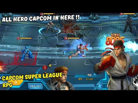 Capcom Super League RPG Android Gameplay All Hero Capcom In Here !!