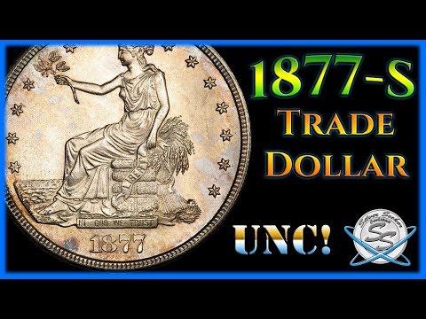 1877-S Trade Silver Dollar - Uncirculated!