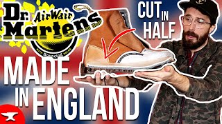 MADE IN ENGLAND Dr Martens Boots (CUT IN HALF) - 1460 doc marten revie