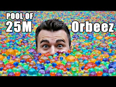 Thumbnail: 25 MILLION Orbeez in a pool- Do you sink or float?