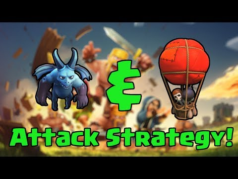 Clash of Clans - Balloon & Minion Attack Strategy 2! [Balloonions]